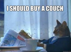 I SHOULD BUY A COUCH